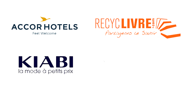 logo accorhotels, kiabi, recyclivre et inov On